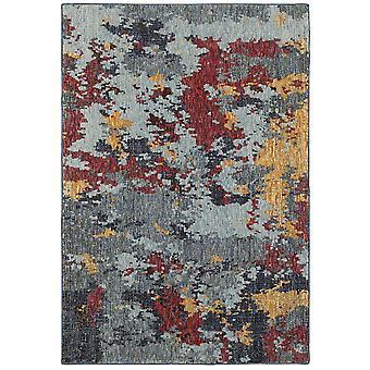 Evolution 8036c blue/ red indoor area rug rectangle 3'3