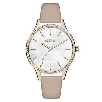 s. Oliver Quartz naisten analoginen kello SO-3830-LQ nahkavyö