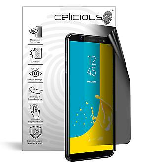 Celicious Privacy Lite 2-Way Anti-Glare Anti-Spy Filter Screen Protector Film Compatible with Samsung Galaxy J8
