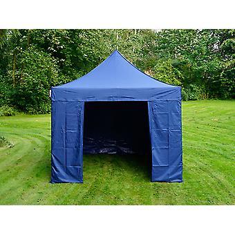 Faltzelt FleXtents PRO 3x3m Dunkeblau, mit 4 Seitenwänden