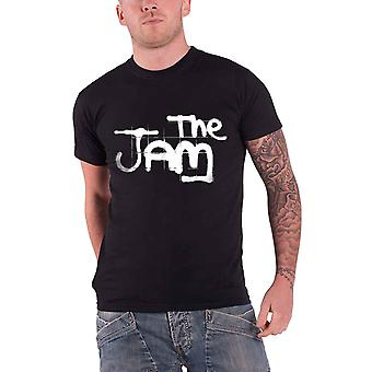 The Jam T Shirt Classic Spray Written banda Logo Official Mens Black
