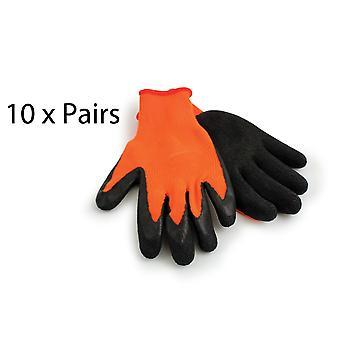 Heavy Duty Protective Grip Gärtner Bauherren Handschuhe - 10 Pack