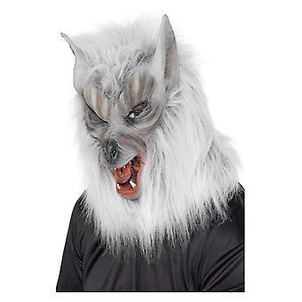 Mens Big Bad Wolf Mask Fancy Dress Accessory