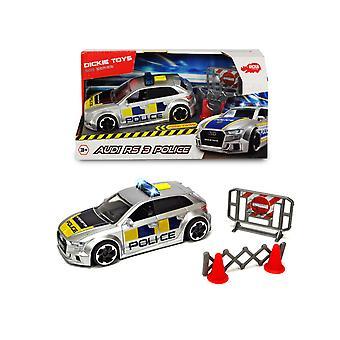Dickie Spielzeug Audi RS3 Polizei Auto Licht und Sound