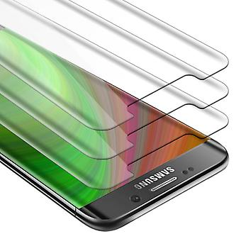 Cadorabo 3x Tank Foil for Samsung Galaxy S6 EDGE - Protective Film in KRISTALL KLAR - 3 Pack Tempered Display Protective Glass in 9H Hardness with 3D Touch Compatibility