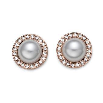 Earrings Well STE RG CZ WHI