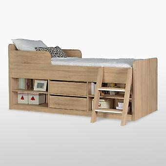 Felix Low Sleeper Bed - Light Sonoma Oak