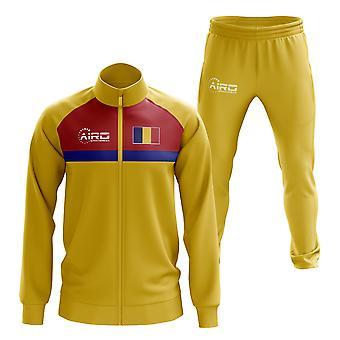 Romania Concept Football Tracksuit (Yellow)