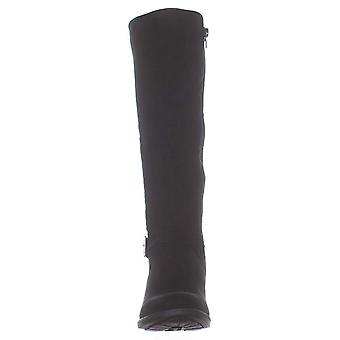 Style & Co. SC35 Luciaa Flat Riding Boots, Black, 5 US / 35 EU