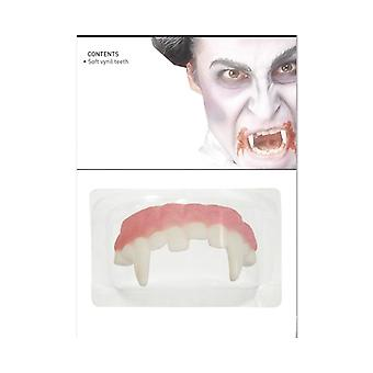 Vampire Fangs (Top Only) Fancy Dress Costume Accessory