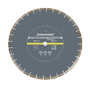 Laser-gelaste beton en steen snijden Diamond Blade-450x 25.4 mm gesegmenteerde velg