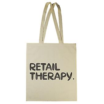 Retail Therapy - Canvas Tote Shopping Bag