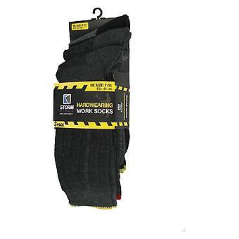 Herren Strapazierarbeit Socken Pack von 3 SK050