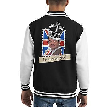 Mr Bean Royal Stamp længe leve bønne kid ' s varsity jakke