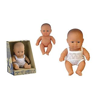 Miniland Baby Puppe europäische Mädchen 21cm