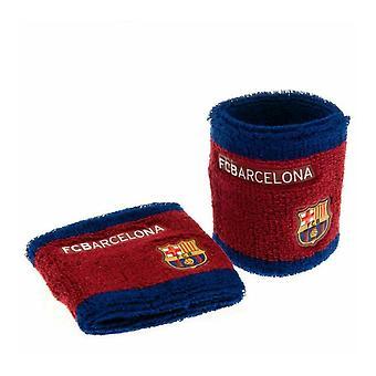 FC Barcelona Unisex Side Logo Wristbands Pack Of 2