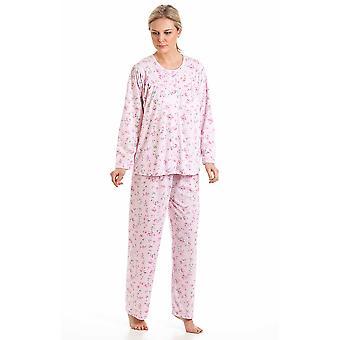 Ladies In Bloom Kuddle Knit Floral Polycotton Nightwear Pyjamas Nightwear Sleepwear 57417