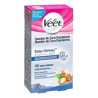 Veet Sensitive Skin Easy Gelwax Hair Removing Wax Strips (Pack de 40)