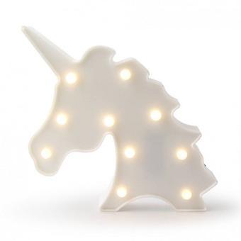 Dekorativa LED Unicorn ljus-vit