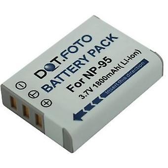 Dot.Foto Fujfilm NP-95 udskiftningsbatteri - 3.7V / 1800mAh