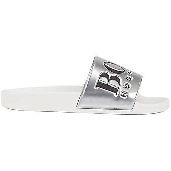Hugo Boss Footwear Solar_slid White/silver Slider