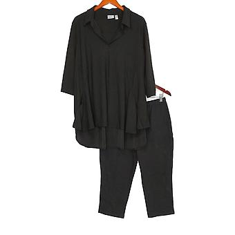 Women with Control Petite Set Crepe Jersey Tunic Black A290084