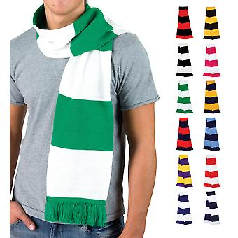 Football & Rugby Team Supporters Scarf, Hockey Contrast Acrylic Scarves Gift Him