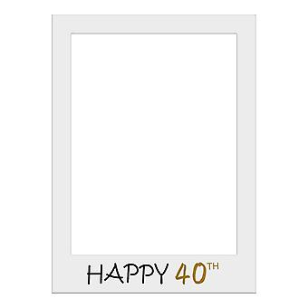 Large Size Birthday Selfie Photo Frame Party Props-Happy 40th Birthday