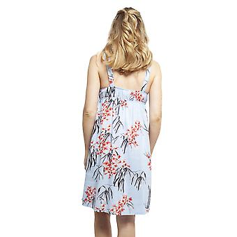 Cyberjammies 4392 Women's Olivia Blue Floral Print Cotton Chemise
