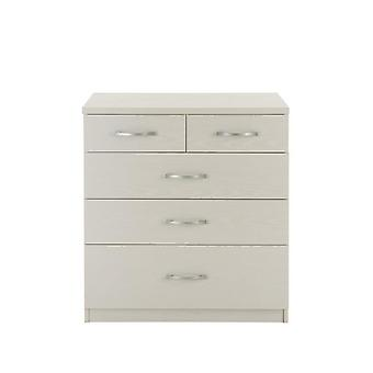 Peru 3 + 2 Graduated Chest of Drawers White 3QXXT