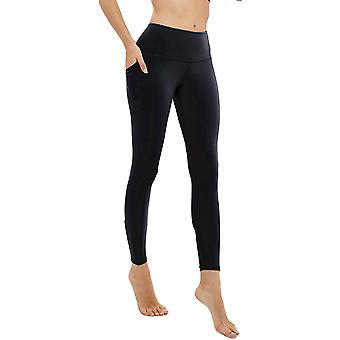 AFITNE Workout Leggings for Women with Pockets High, P31-black, Size Small