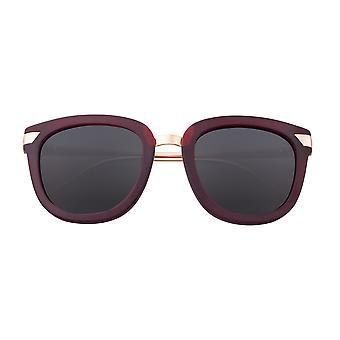 Bertha Arianna Polarized Sunglasses - Burgundy/Black