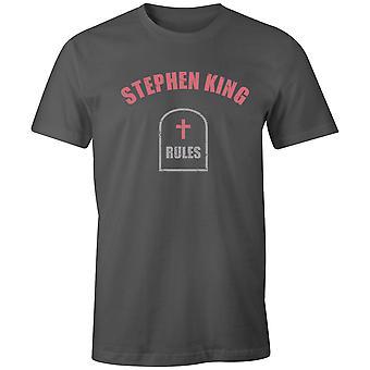 Boys Crew Neck Tee Short Sleeve Men-apos;s T Shirt- Stephen King Rules