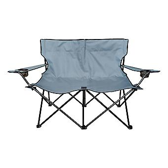 Charles Bentley Double Folding Camping Chair Love Seat Sofa Travel Chair Twin