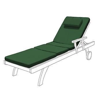 Almohadilla de reemplazo de la hamaca Gardenista Garden Sunlounger ? Tumbona reclinable Patio Muebles Hipoalergénico Salpicadero Fibra resistente al agua rellena ? Durable grueso y cómodo (verde)