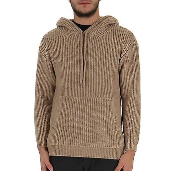 Laneus Cpu520cc3bg Men's Beige Wool Sweatshirt