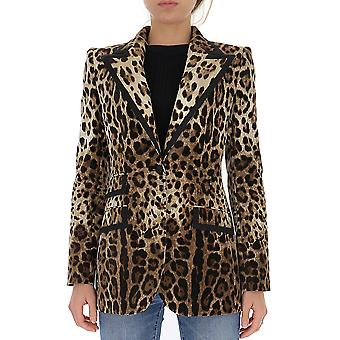 Dolce E Gabbana F29cetfswbhhy13m Frauen's Leopard Baumwolle Blazer