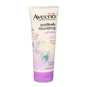 Aveeno positively nourishing lotion, calming lavender + chamomile, 7 oz