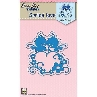 Nellie's Choice Shape Die Blue Spring love SDB016 76x76mm