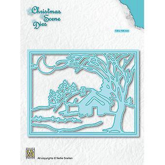 Nellie's Choice Christmas Scene Die Moonlight winternight CRSD007 (10-19)