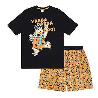 The Flintstones Fred Flintstone Official Gift Boys Kids Loungewear Short Pyjamas