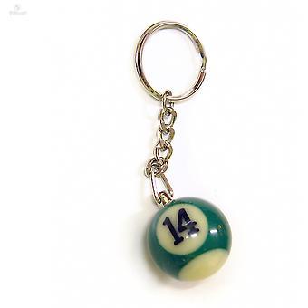 Nøkkelring/nøkkelring Biljard ball (ingen #14)