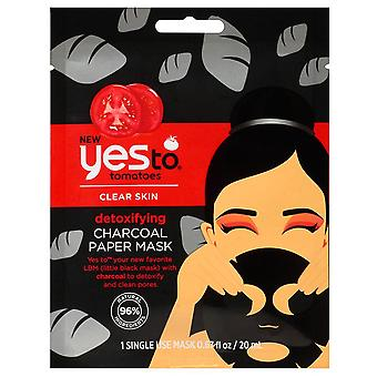 Yes to tomatoes paper sheet mask, charcoal, single pack, 1 ea