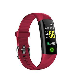 IP68 Waterproof activity wristband with heart rate monitor-red