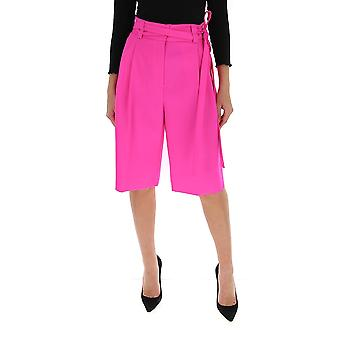 Valentino Tb0rd0755jef30 Women's Fuchsia Cotton Shorts