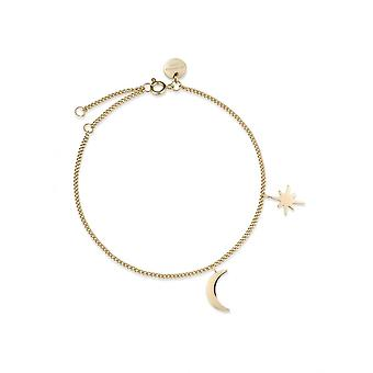 Rosefield MSBG-J234 Bracelet - The LOIS Moon Collection and Women's Adjustable Steel Gold Canvas