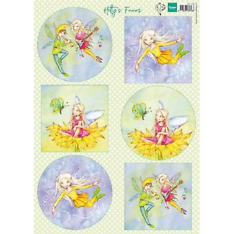 Marianne Design Decoupage sheets Hetty's Fairies HK1706 A4