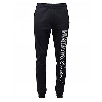 Moschino Couture Silver Logo Slim Fit Joggers