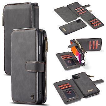 For iPhone 11 Pro Case, Wallet PU Leather Detachable Flip Cover, Black