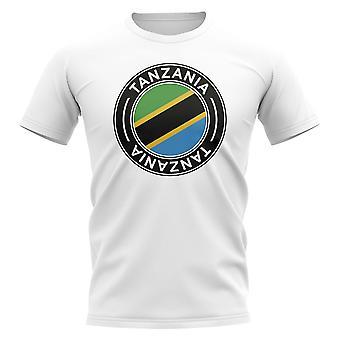 Tanzania Football Badge T-shirt (Vit)